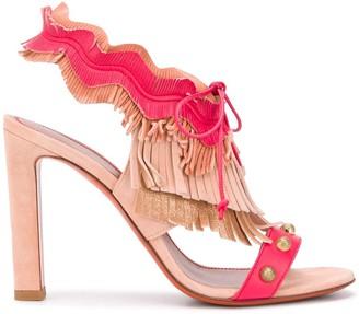 Santoni Fringed Tassel Sandals