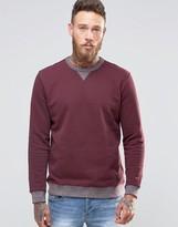 Lee Crew Sweatshirt Maroon 2 Tone