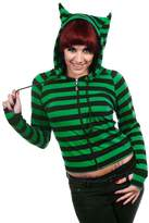 Banned Cat Ears Striped Hoodie - /