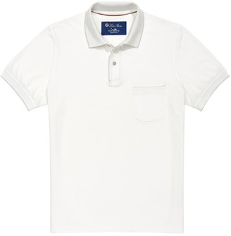 Loro Piana Rib-Knit Polo Shirt
