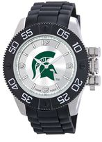 Game Time Beast Series Michigan State Spartans Stainless Steel Watch - COL-BEA-MSU - Men