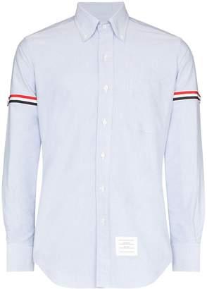 Thom Browne tricolour armband cotton shirt