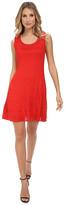 M Missoni Solid Chevron Knit Sleeveless Dress