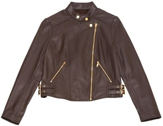 Michael Kors Brown Leather Jackets