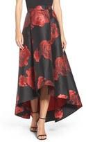 Eliza J Women's Floral Jacquard Skirt