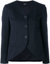 Jil Sander Navy curved hem jacket - women - Cotton/Spandex/Elastane/Polyester/Rayon - 36