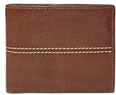Fossil Men's 'Turk' Leather Rfid Wallet - Brown