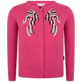 Little Marc Jacobs Little Marc JacobsGirls Fuchsia Sequin Bow Knitted Cardigan