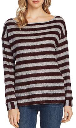 Vince Camuto Striped Boatneck Sweater