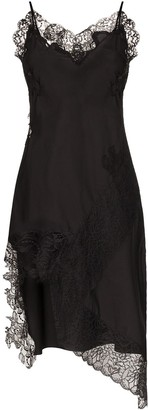 Marques Almeida Lace-Trim Slip Dress