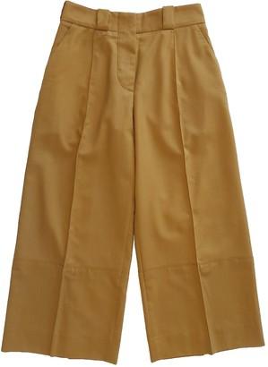 Marni Camel Wool Trousers