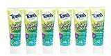 Tom's of Maine Natural Wicked Cool! Fluoride Free Children's Toothpaste, Mild Mint, 4.2 Ounce, Pack of 6