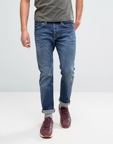 Edwin ED-55 Regular Tapered Jeans Contrast Clean Wash