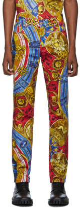 Moschino Multicolor Roman Scarf Jeans