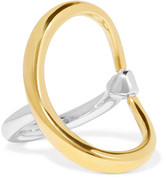 Charlotte Chesnais Turtle Gold-dipped And Silver Ring - 55