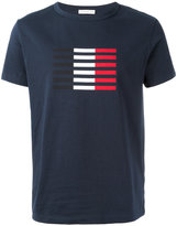 Moncler tri-colour stripe T-shirt - men - Cotton - XL