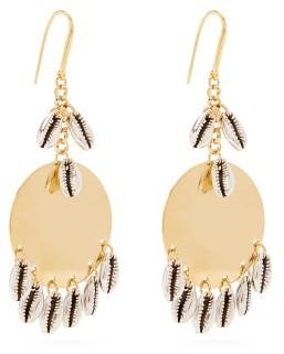 Isabel Marant Shell-charm Brass Earrings - Silver