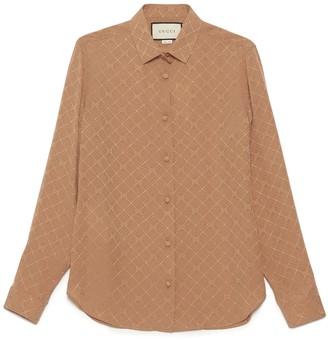 Gucci Check GG Crepe Shirt