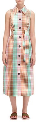 Kate Spade Rainbow Plaid Shirtdress (Multi) Women's Dress