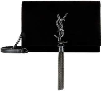 Saint Laurent Small Velvet Kate Tassel Shoulder Bag