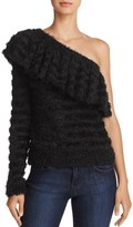 WAYF One-Shoulder Ruffle Sweater - 100% Exclusive
