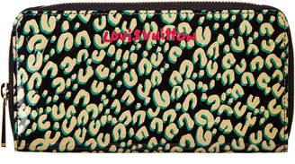 Louis Vuitton Black Leopard Canvas Zippy Wallet