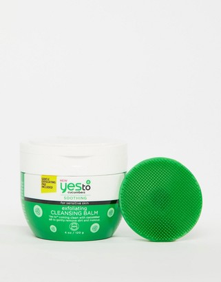 Yes to Cucumbers Exfoliating Cleansing Balm for sensitive skin 120g