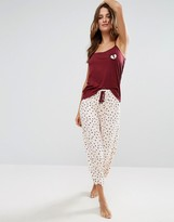 Chelsea Peers Valentines Cami and Long Pajama Set