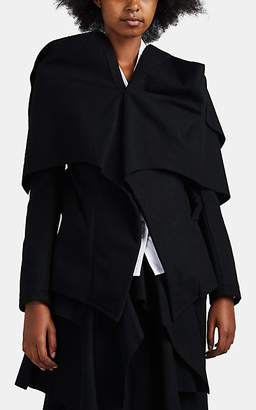 Yohji Yamamoto Women's Hand-Detailed Wool-Blend Jacket - Black