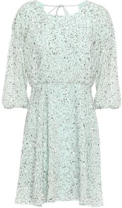 Alice + Olivia Palmira Embellished Chiffon Mini Dress
