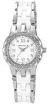 Anne Klein Women's Crystal Accented White Ceramic Watch