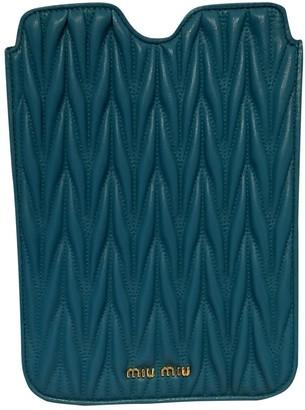 Miu Miu Turquoise Leather Accessories