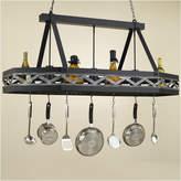 Hi-Lite Sonoma 8 Sided Hanging Pot Rack with 3 Lights