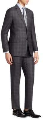 Giorgio Armani Plaid Virgin Wool Suit
