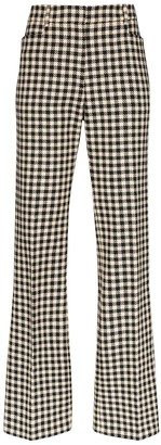 Victoria Beckham Houndstooth Slim Leg Trousers