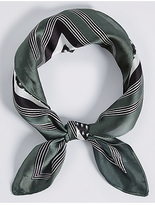M&S Collection Spotted & Striped Scarf