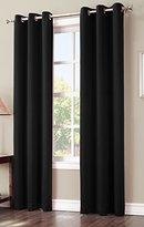 Sun Zero Easton Blackout Energy Efficient Grommet Curtain Panel, 40 x 84 Inch, Black