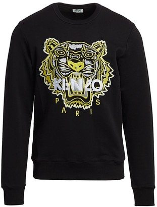 Kenzo Neon Tiger-Embroidered Sweatshirt