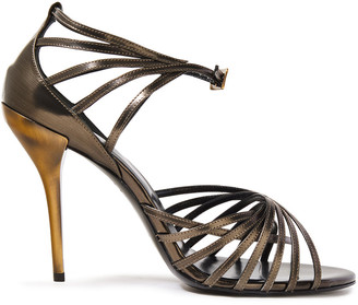 Roger Vivier Burnished Two-tone Leather Sandals