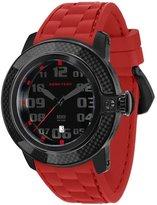 Glam Rock Women's Sobe Tech 50mm Red Silicone Band IP Steel Case Swiss Quartz Dial Watch GR33002