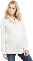 Motherhood Cable Knit Maternity Sweater