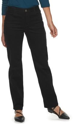 Croft & Barrow Women's Effortless Stretch Straight-Leg Jeans
