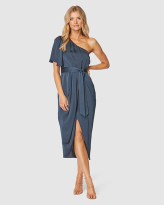 Pilgrim Women's Navy Midi Dresses - Cam Midi Dress - Size One Size, 10 at The Iconic