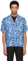 DSQUARED2 Blue Short Sleeve Ibisco Hawaiian Shirt