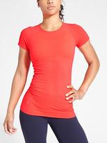 Athleta Finish Fast Textured Tee