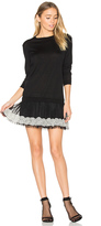 RED Valentino Long Sleeve Tulle Mini Dress
