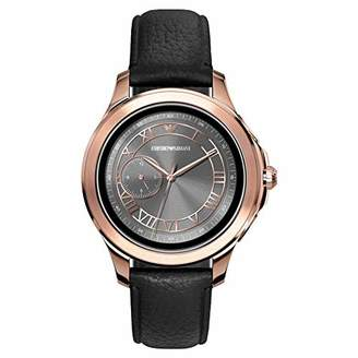 Emporio Armani Mens Smartwatch with Leather Strap ART5012