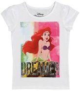 Disney Princess Little Mermaid Toddler Girls' Short Sleeve Tee - White