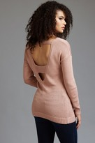 Dynamite V-Neck Tunic Sweater with Back Details