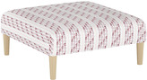 Minnie Driver English Living Agave Stripe Cocktail Ottoman - Berry - frame, natural; upholstery, berry/ivory/multi